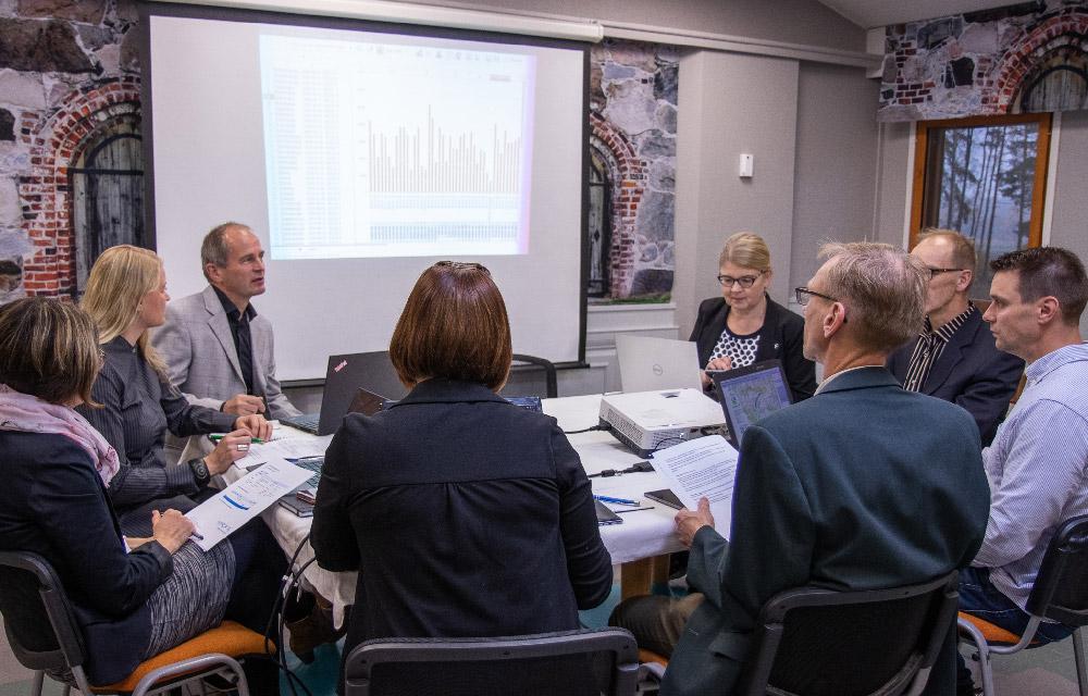 Meeting, IOTSU device on the wall
